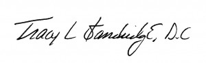 Tracy Standridge Signature